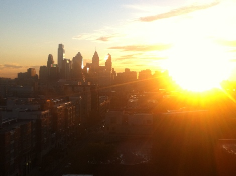 Sometimes it's sunny in Philadelphia. Photo credit: Abhishek Hendi